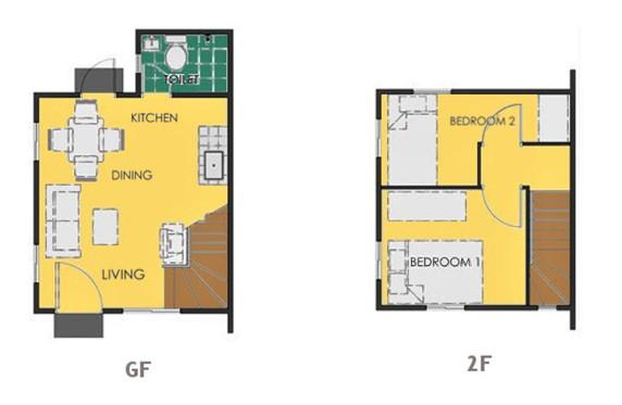 Ravena Floor Plan House and Lot in Calamba