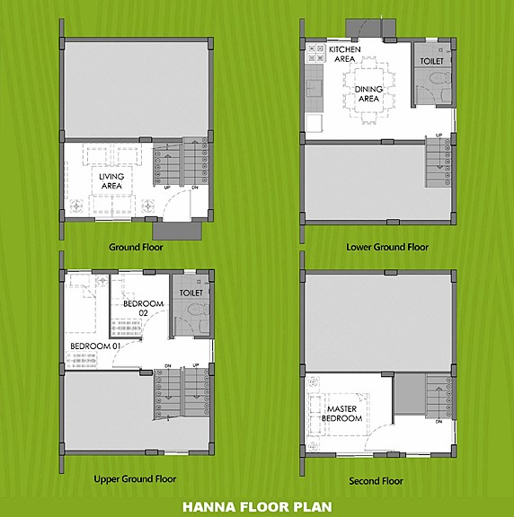 Hanna Floor Plan House and Lot in Calamba