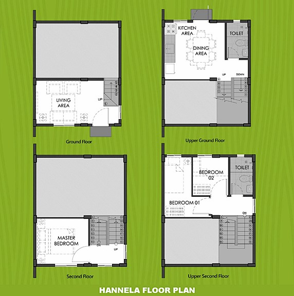 Hannela Floor Plan House and Lot in Calamba