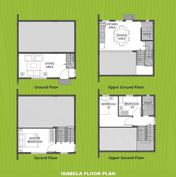 Isabela Floor Plan House and Lot in Calamba