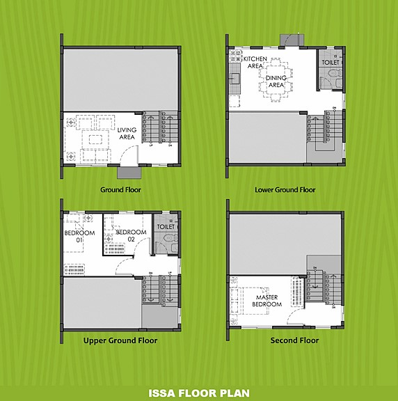 Issa Floor Plan House and Lot in Calamba