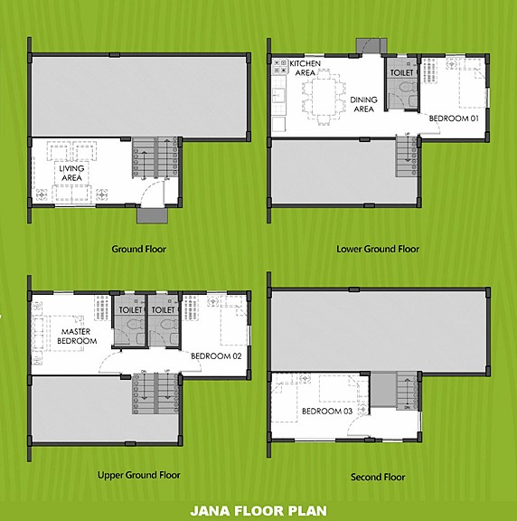 Janna Floor Plan House and Lot in Calamba