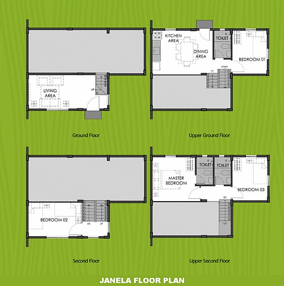 Janela Floor Plan House and Lot in Calamba