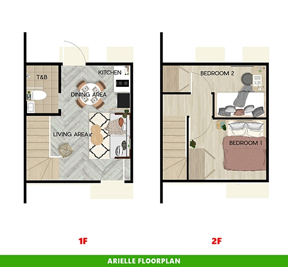 Arielle Floor Plan House and Lot in Calamba