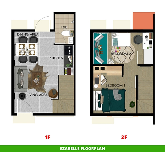 Ezabelle Floor Plan House and Lot in Calamba