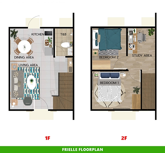 Frielle Floor Plan House and Lot in Calamba