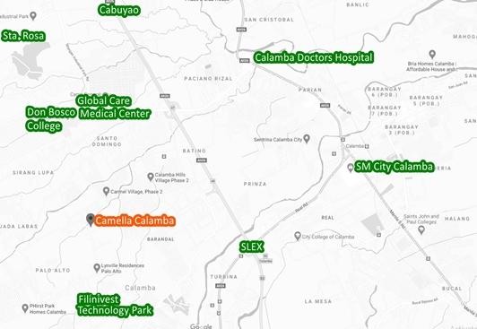 Calamba Property Vicinity Map