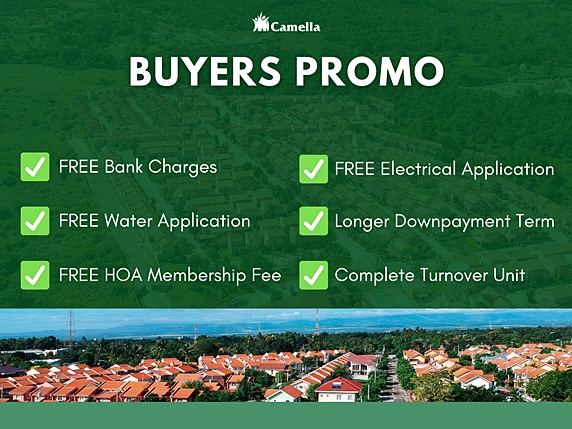 Promo for Camella Calamba.
